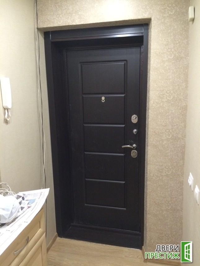 Отделка откосов входных металлических дверей - фото 4
