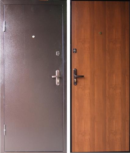 двери заводские входные металлические